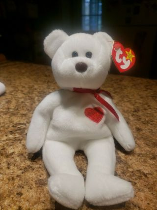 Ultra Rare Valentino Ty Beanie Baby With Errors And Brown Nose 8 Errors