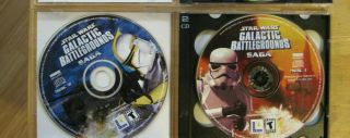 Pc Star Wars Bundle: Battlefront W/key (dvd) & Galactic Battleground Saga (2 Cds