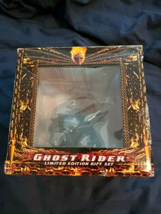 2007 Marvel Ghost Rider Limited Edition Gift Set Mini Bust Statue Only (no Dvd)