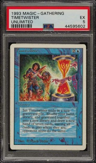 1993 Magic The Gathering Mtg Unlimited Timetwister R B Psa 5 Ex (pwcc)