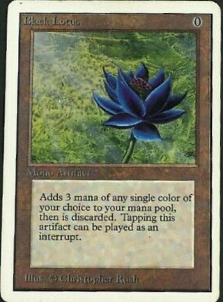 Unlimited Black Lotus Mtg Unlimited Power 9