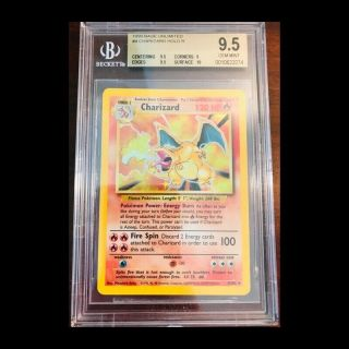 4 Charizard Holo R 1999 Base Unlimited Bgs 9.  5 Gem