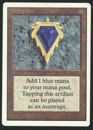 1x Unlimited Mox Sapphire Mtg Unlimited Power 9 - Kid Icarus -