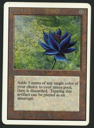 1x Unlimited Black Lotus Mtg Unlimited Power 9 - Kid Icarus -