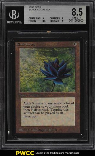 1993 Magic The Gathering Mtg Beta Black Lotus R A Bgs 8.  5 Nm - Mt,  (pwcc)