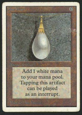 1x Unlimited Mox Pearl (light Crease) Mtg Unlimited Power 9 - Kid Icarus -