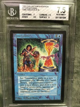 Bgs 7.  5 Nm,  Timetwister Mtg International Collectors Edition Never - Played