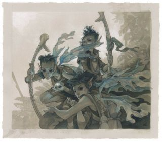 Fae Of Wishes Painting By Wylie Beckert For Mtg Throne Of Eldraine Set