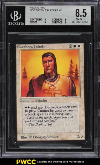 1993 Magic The Gathering Mtg Alpha Northern Paladin R W Bgs 8.  5 Nm - Mt,  (pwcc)