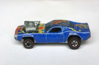 Blue Rodger Dodger Hot Wheels Redline 1974 Flying Colors