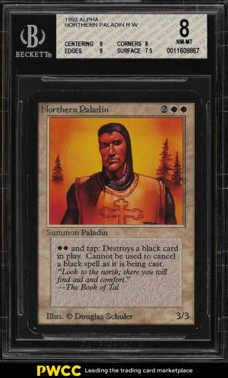 1993 Magic The Gathering Mtg Alpha Northern Paladin R W Bgs 8 Nm - Mt (pwcc)