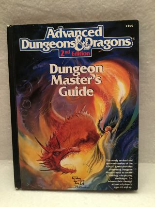 Dungeon Master's Guide Tsr 2100 Ad&d 2nd Edition Advanced Dungeons & Dragons