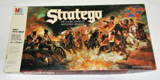 Stratego Game Of Battlefield Strategy - Mb - 100 Complete - 1986 - Very Good Cond