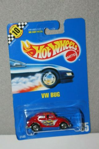 Hot Wheels Vhtf Speed Points 1990 Blue Card Series Vw Bug 65