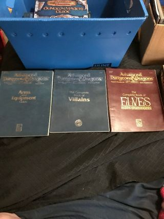 Ad&d The Complete Book Of Villians And Elves,  Arms And Equipment Guide Dd29