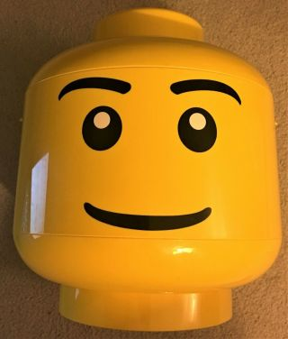 """Lego Yellow Head Sort & Storage Container 81010 Large 2 Trays 2010 12 """" X 10 """""""