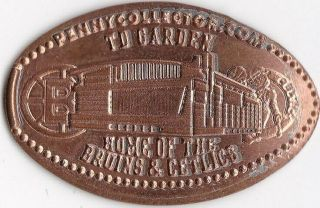 Elongated Souvenir Penny: T D Garden Home Of The Bruins & Celtics Ec 020