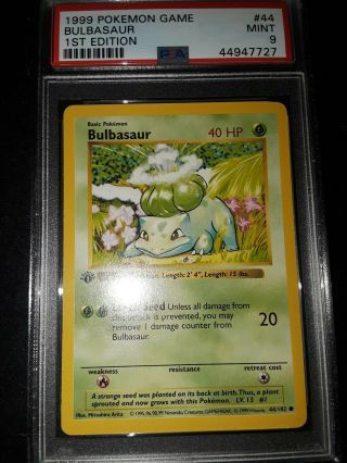 Pokemon 1st Edition Bulbasaur Psa 9