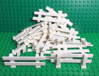 Lego 20 White Fence 1x8x2 2/3,  Friends,  City Home Garden Rail Fences Bulk Parts